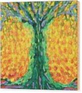 Joyful Tree Wood Print