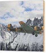 Ju52 - Alpine Passage Wood Print