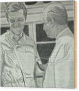 Juan Manuel Fangio And Graf Berghe Von Trips Wood Print