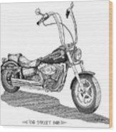 Juan's Harley Wood Print