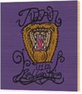 Judah The Real Lion King Wood Print