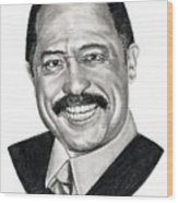 Judge Joe Brown Wood Print