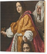 Judith Holding The Head Of Holofernes Wood Print