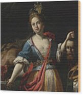 Judith With The Head Of Holofernes 2 Wood Print