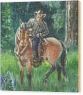 Juel Riding Chiggy-bump Wood Print