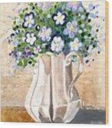 Jug Bouquet Wood Print