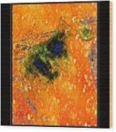 Jug In Black And Orange Wood Print