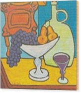 Jug Of Wine Wood Print