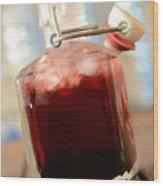 Juice Of Cherries Wood Print