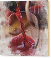 Juice Of The Vine Wood Print