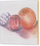 Juicy Fruits Wood Print