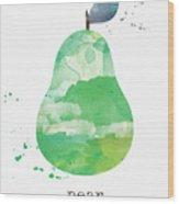 Juicy Pear Wood Print
