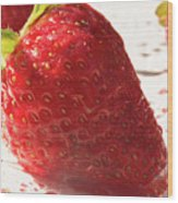 Juicy Strawberries Wood Print