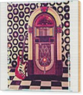 Juke Box Polaroid Transfer Wood Print