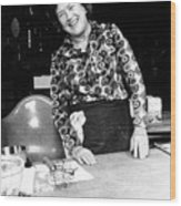 Julia Child, Ca. Early 1970s Wood Print by Everett