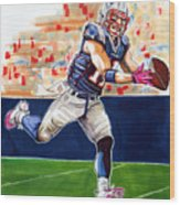 Julian Edelman Wood Print