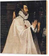 Julian Romero De Las Azanas And His Patron St Julian Wood Print