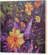 Julia's Dahlias Wood Print
