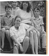 Julie's Family Wood Print