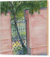 Juliette Low Garden Gate Wood Print