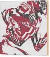 Julio Jones Atlanta Falcons Pixel Art 11 Wood Print