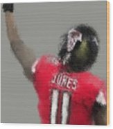 Julio Jones Wood Print