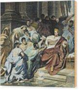 Julius Caesar (100-44 B.c.) Wood Print