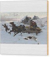 Julius Vesin Bulgarian The Sleigh Ride Wood Print