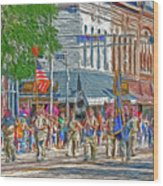 July 4th Color Guard Wood Print