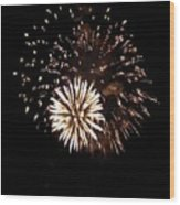 July 4th Fireworks Wood Print