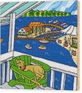 July 4th Snoozer - Cedar Key Wood Print