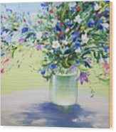July Buquet Wood Print