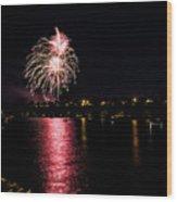 July Fireworks Wood Print