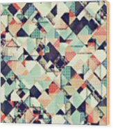 Jumble Of Colors And Texture Wood Print