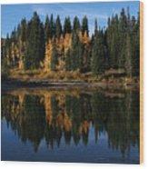 Jumbo Lake In The Fall Wood Print