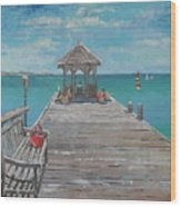 Jumby Dock Wood Print