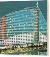 Jumeirah Beach Hotel Wood Print
