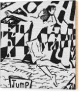 Jump Maze Wood Print