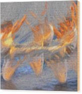 Jumped Over The Freeway - Dancing California Fires Wood Print