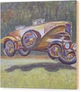 Jumpin Auburn Car Wood Print