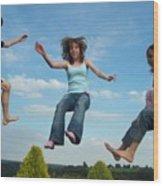 Jumping For Joy Wood Print