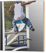 Jumping Out Of The Picture Wood Print