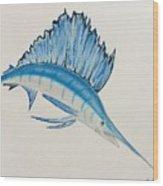 Jumping Swordfish  Wood Print
