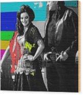 June Carter Cash Johnny Cash In Costume Old Tucson Arizona 1971-2008 Wood Print