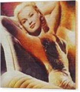 June Haver, Vintage Hollywood Actress Wood Print
