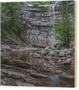 June Morning At Awosting Falls Wood Print