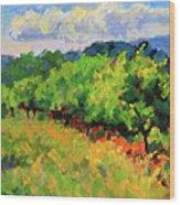 June Orchard Wood Print