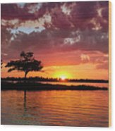 June Sunset At Detroit Point Wood Print