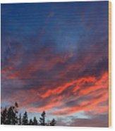 June Sunset Wood Print