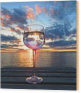 June Sunset Over Wolfe Island Wood Print